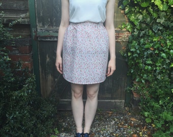 Pink Ditsy Floral skirt