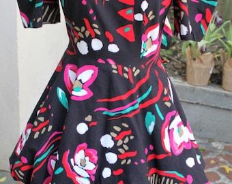 Really fun 1980's A La Mode Avant Garde part dress