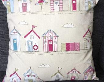 Beach Hut Cushion Cover