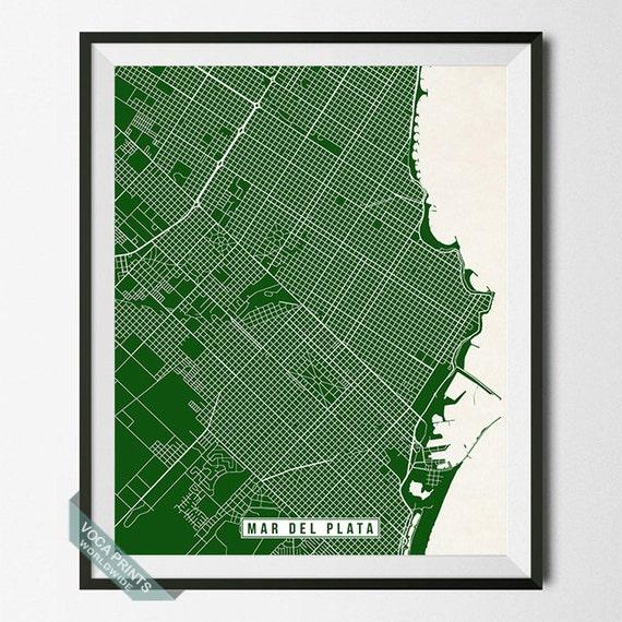 Mar del Plata Print Argentina Poster Mar del Plata Poster