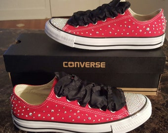 Red and Black Custom Converse