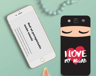 "Cell phone bag ""i love my Niqab"""