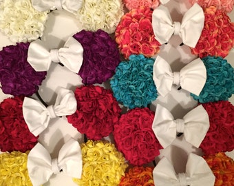 Colorful Floral Minnie Mouse Ears, Flower Disney Ears Headband, Rose Mickey Mouse Ears
