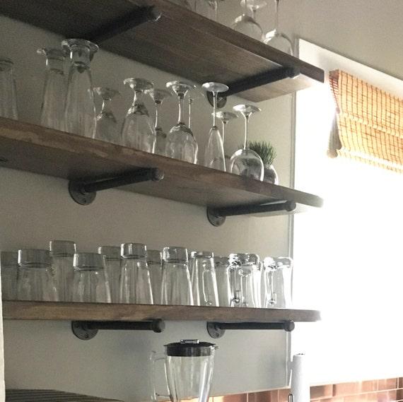 Extra Kitchen Shelves: Extra Long Farmhouse 8 Deep Kitchen Floating Shelf By