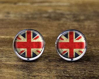 British flag cufflinks, Union Jack cufflinks, English flag cufflinks