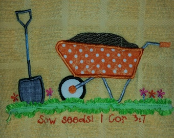 Kitchen Towel, Wheelbarrow, Hand Towel, yellow