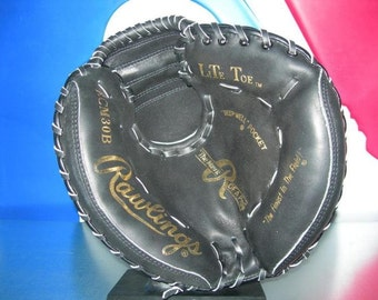 Rawlings rcm 30 b baseball glove  catcher mitt  new, lite toe, vintage   top  leather