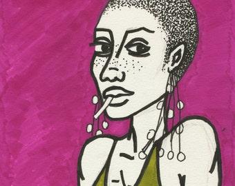 City Girl - A4 Artwork