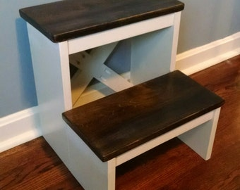 Handcrafted stepping stool