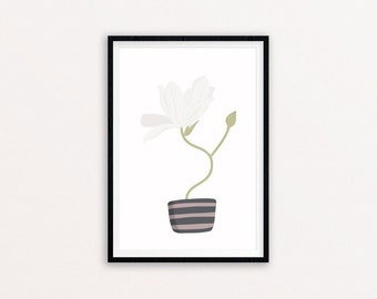 Magnolia - Digital print of an original illustration, A4 and A5