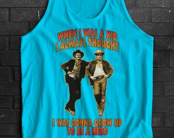 When I Was A Kid Butch Cassidy Sundance Inspired Wild Bunch Tank Top Sleeveless T-Shirt Top Vest All Sizes And Colours