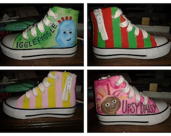 In the Night Garden Inspired Hand Painted Kids Shoes