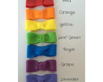 Rainbow Set of 7 Fondant Bows