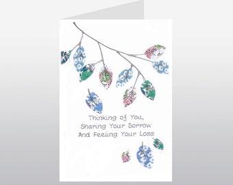 Sympathy Card Leafy Branch WWSY02