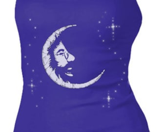 Jerry Garcia Women's tank top- Jerry in the Moon