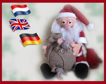 Crochetpattern Santa Claus, Amigurumi doll crochet pattern, crocheted dolls pattern, amigurumi PDF pattern, Instant download