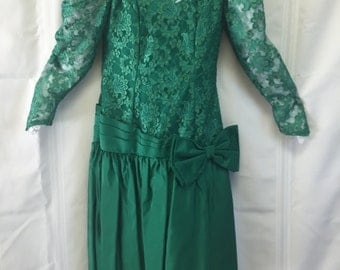 80's style formal dress