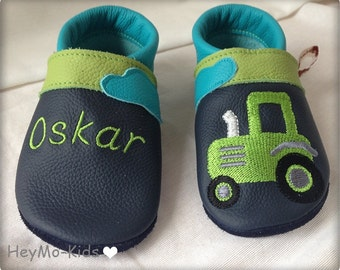 Leather Babyshoes Taktor shoes firstshoes