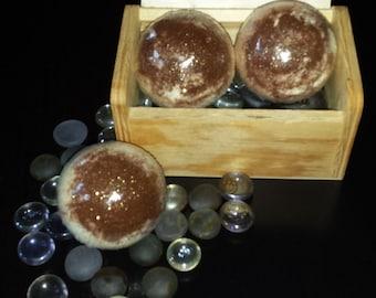 Cinnamon Bun Bath Bombs