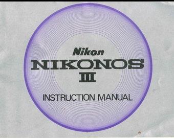 NIKON Nikonos Instruction Manual