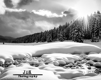 Photograph of winter in the Jura in France