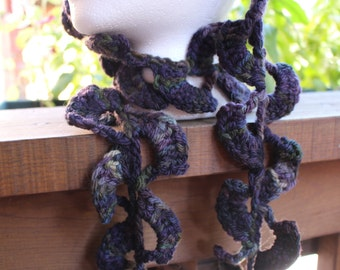 Rippling Waves Hand-Crocheted Decorative Scarf Accessory