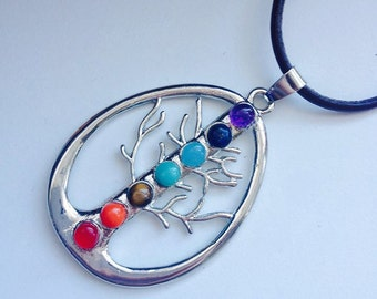 Multiple Healing Stone Tree of Life Necklace