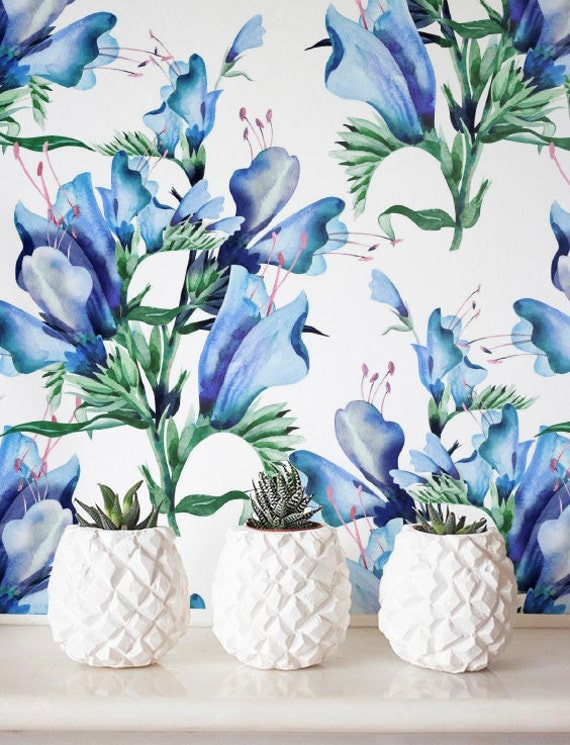 watercolour flower wallpaper removable wallpaper
