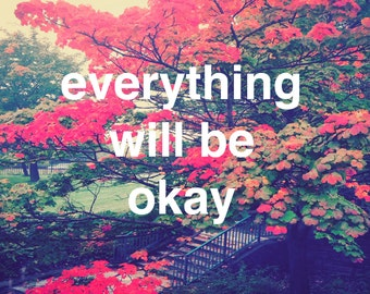 Everything will be okay-Positive postcards series