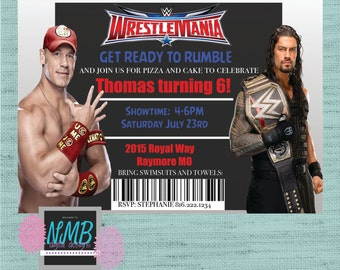 WWE Invitation with John Cena and Roman Reigns