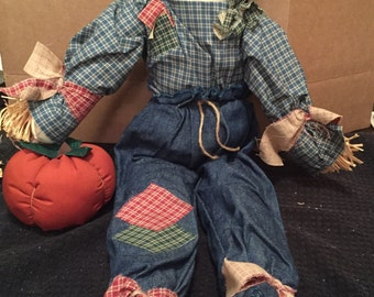 Vintage Scarecrow Doll/Decoration