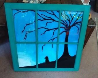 Vintage window painting