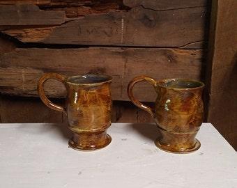 Handmade Ceramic Pedestal Mugs