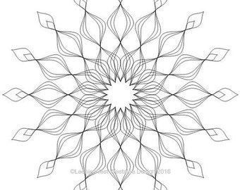 Quilting Freemotion template Artisan Curve - Curved Marquise