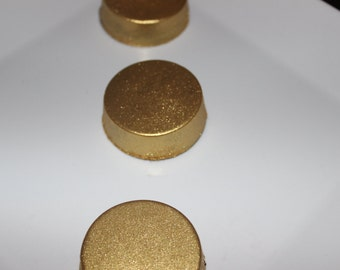 Gold edible chocolate covered oreos