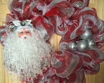 CHRISTMAS CLEARANCE!!! Santa wreath