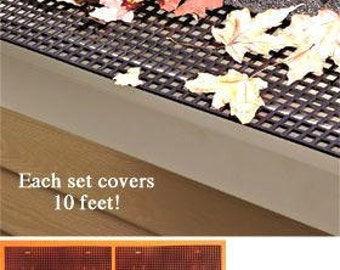 6-PC Mesh Gutter Protector Set Prevent Blocked Downspouts Covers 10 feet