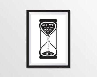 Instant Download | Printable Art | Black and White Prints | Poster for Interier | The time | Different Sizes