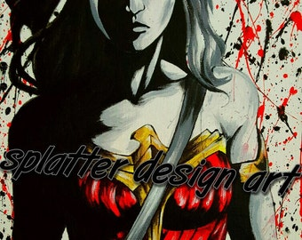 8x10 Wonder woman art print on professional luster photo paper