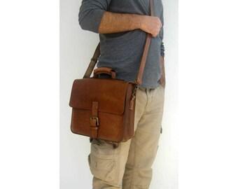 Leather handmade bag, messenger bag, crossbody bag, laptop bag, etc.