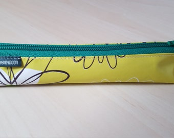 Pen and paper bag - PANYMOON - Green field - 22x4x4cm large