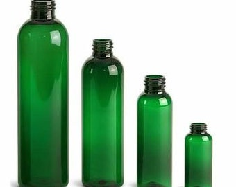 Green empty Bottles with Mister 4/8oz Pack of 10