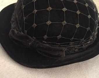 Brown Net Hat