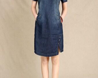 Blue Denim Dresses - Women Dresses - Jeans Dresses - Dresses