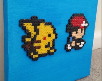 Pokemon 8 bit Pixel Art Canvas