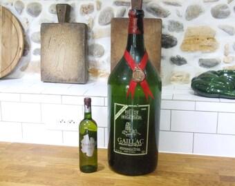 Large Bottle // Very Large Wine Bottle // French Vintage Giant Wine Bottle // Massive Bottle