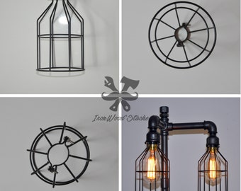 Cage to bulb, wire, industrial, vintage, Edison, wandering, protection, blinds, Ironwoodstache
