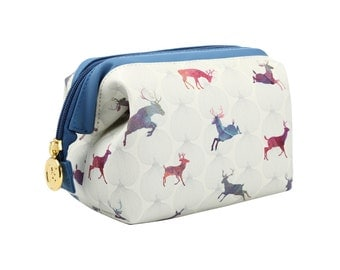 TaylorHe Cosmetic Case Zipped Frame Splendid Stags.