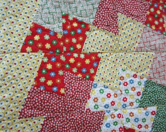 Modern quilt, childs bright quilt, pinwheel quilt, baby  quilt, baby shower, childs birthday present