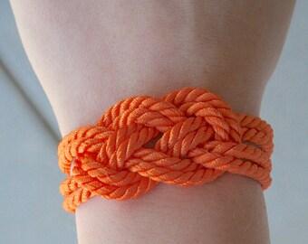 Orange Rope Bracelet